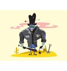 Wild West Sheriff Cartoon Character vector image