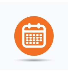 Calendar icon events reminder sign vector