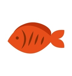 Fish meat food isolated icon vector