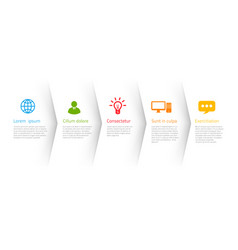 Infographic style colored menu or arrows option vector