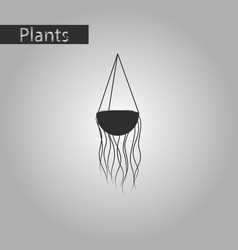 black and white style icon flower pot vector image