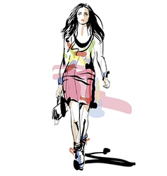 Artistic Fashion Sketch vector image