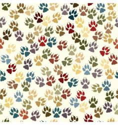 Paw seamless tile vector