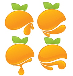 Orange stickers vector