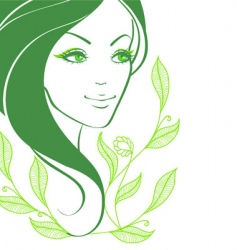Women face back vector
