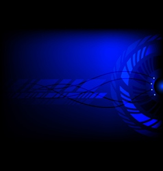 Dark blue abstract technology cycle background vector