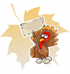 Cartoon turkey vector