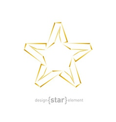 Abstract luxury golden star on white background vector