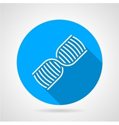 Round blue icon for dna vector