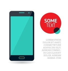 Page or banner design with mobile phone vector