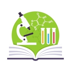Science Emblem vector image