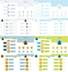 Set of timeline design set 16 item vector