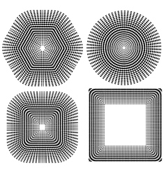 Halftone pattern set dots vector