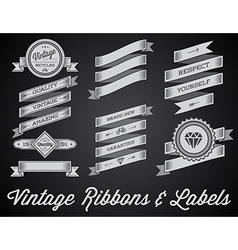 Set of vintage retro style premium design labels vector