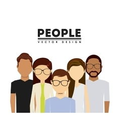 A group of people design vector
