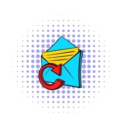 Update e-mail icon pop-art style vector
