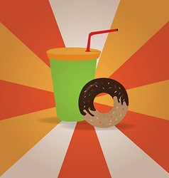 Retro fast food vector