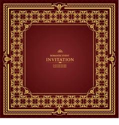 al 0905 invitation 03 vector image vector image