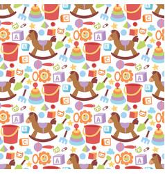 Baby toys icons cartoon family kid toyshop design vector
