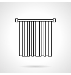 Blinds flat line icon vector image vector image