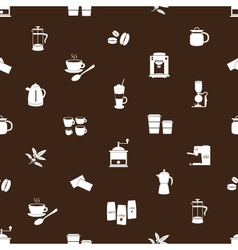 Coffee icons brown and white pattern eps10 vector