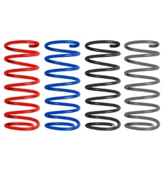 Colored metal springs vector