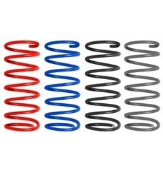 colored metal springs vector image