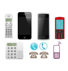 different phone set vector image vector image