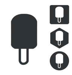 Eskimo icon set monochrome vector