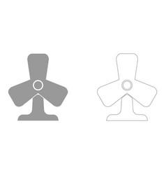 Fan set icon vector