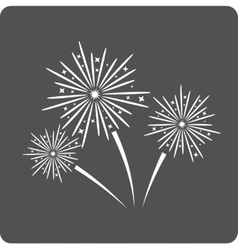 Fireworks sign icon vector image