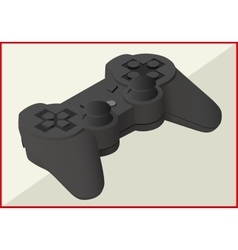 game pad isometric flat 3d vector image vector image