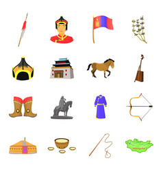 Genghis khan a monastery yurt and other sights vector