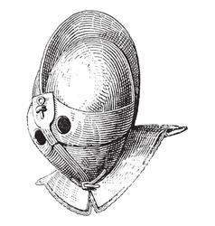 Gladiator helmet vintage engraving vector