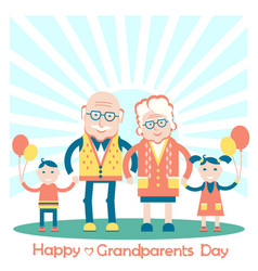 Grandparents with grandchildren family vector