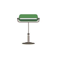 green lamp light bulb lightbulb icon energy idea vector image