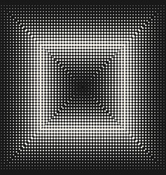 halftone pattern different dots in square form vector image
