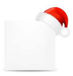 Happy Christmas Card With Santa Hat vector image vector image