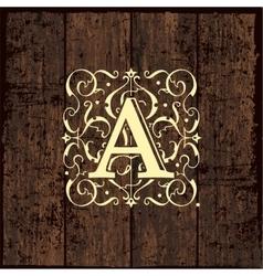 Luxury monogram emblem template vector