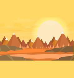 natural landscape vector image vector image