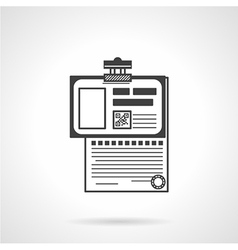 Patient history outline icon vector