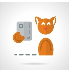 Pets selfie flat icon vector image