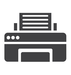 Printer solid icon fax and office vector