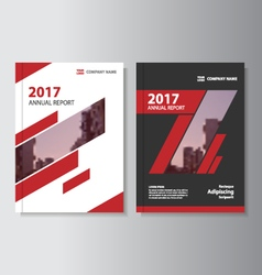 Red black annual report leaflet brochure flyer vector