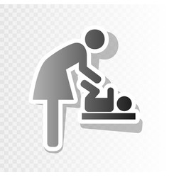 Symbol for women and baby baby changing vector