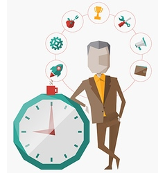 time management planning vector image vector image