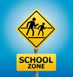 TRAFFIC Sign School warning vector image