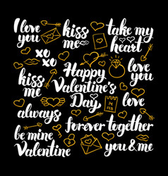 valentines day calligraphy design vector image