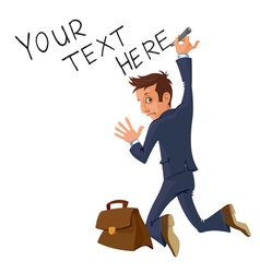 writing businessman vector image vector image