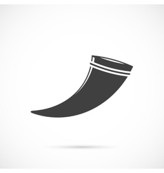 Drinking horn icon vector